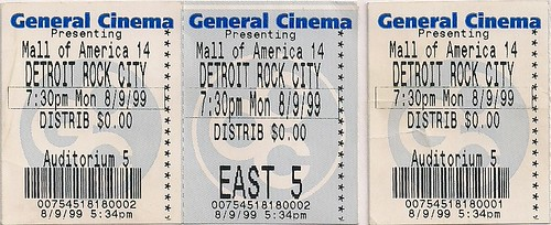 08/09/99 Detroit Rock City Advance Screening at Mall of America, Bloomington, MN (Tickets)