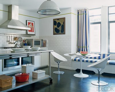 Kitchen Window Curtain Ideas on Modern White Kitchen  Saarinen Table   Window Seat   Philippe Starck