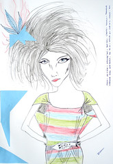 face, artwork, sketch, drawing, fashion illustration, illustration,