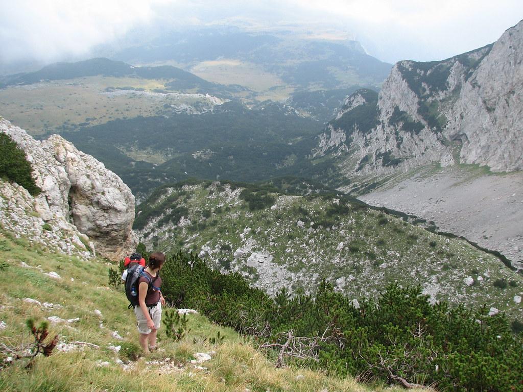 Climbing up Maglič