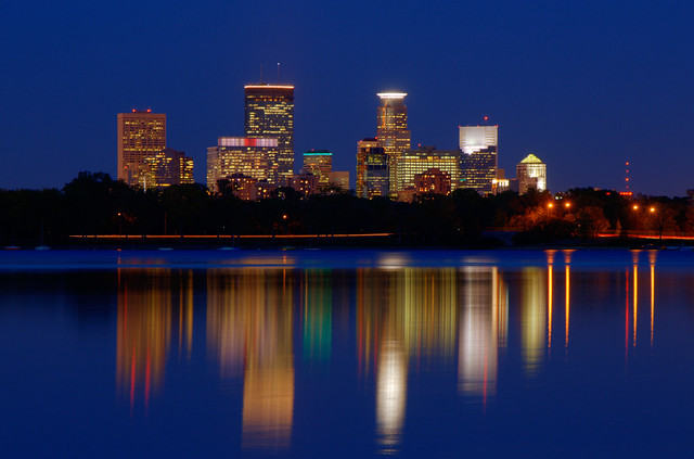 Downtown Minneapolis from Lake Calhoun