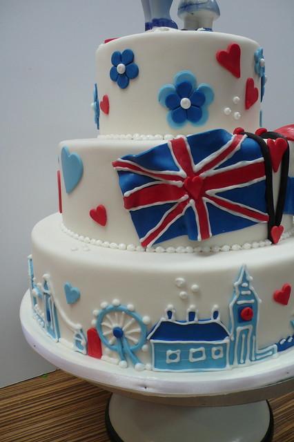 British Flag London Wedding cake