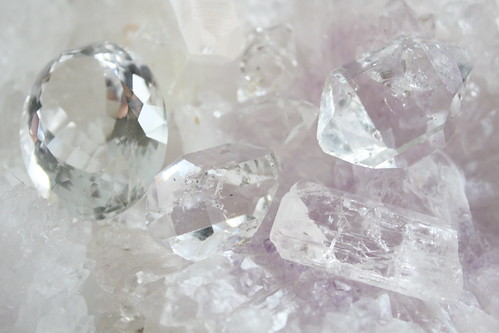 Facetted Crystal Quartz, Herkimer Diamond, Danburite
