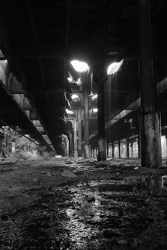 railroad urban bw abandoned rain vanishingpoint blackwhite buffalo decay ruin urbanexploration manualfocus urbex centralterminal manuallens coun2rparts