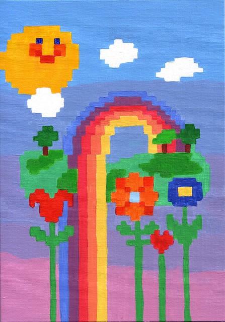 Mr.Sunshine in Rainbow Land.