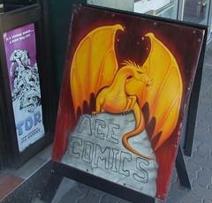 Ace Comics Sign, Ipswich Rd, Annerley Junction, Brisbane, Queensland, Australia 090617