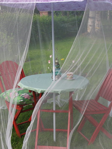 The mosquito-free patio...