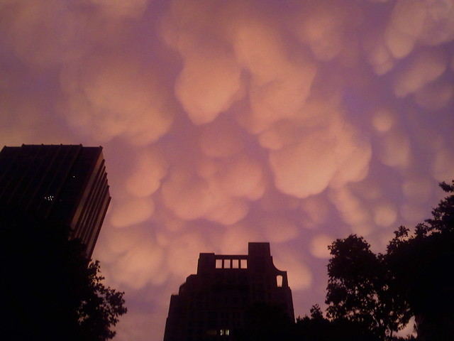 Mammatus Clouds Over Central Park