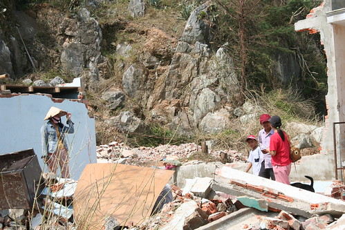 Damage caused by Typhoon Xangsane