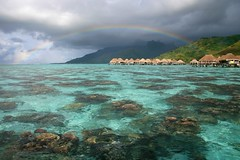 Full rainbow over the Moorea's lagoon [Explored]