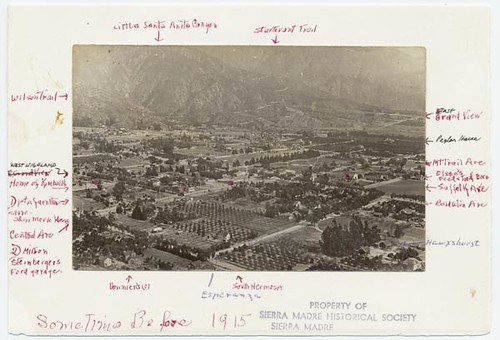 Bird S Eye View Of Sierra Madre Ca 1914 From The Sierra