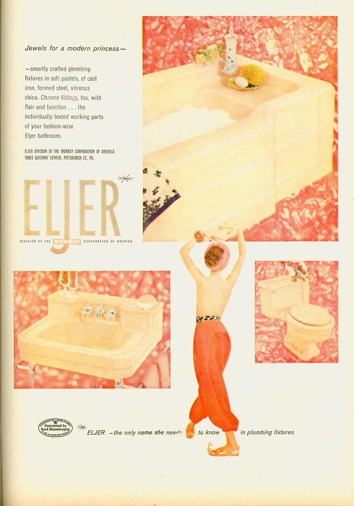 pink bathroom fixtures