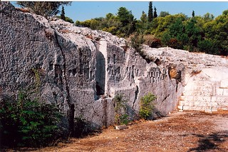 Image of Pnyx near Athens. archaeology athens sanctuary pnyx