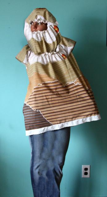 hooded restraint top denim hobble skirt flickr photo