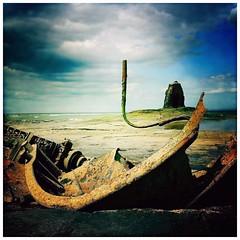 Wreck of the 'Admiral von Tromp' & Black Nab, Saltwick Bay, Yorkshire