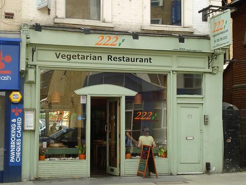 222 Vegetarian Restaurant, West Kensington, London W14