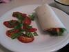 tofurkey wraps with raw caprese salad