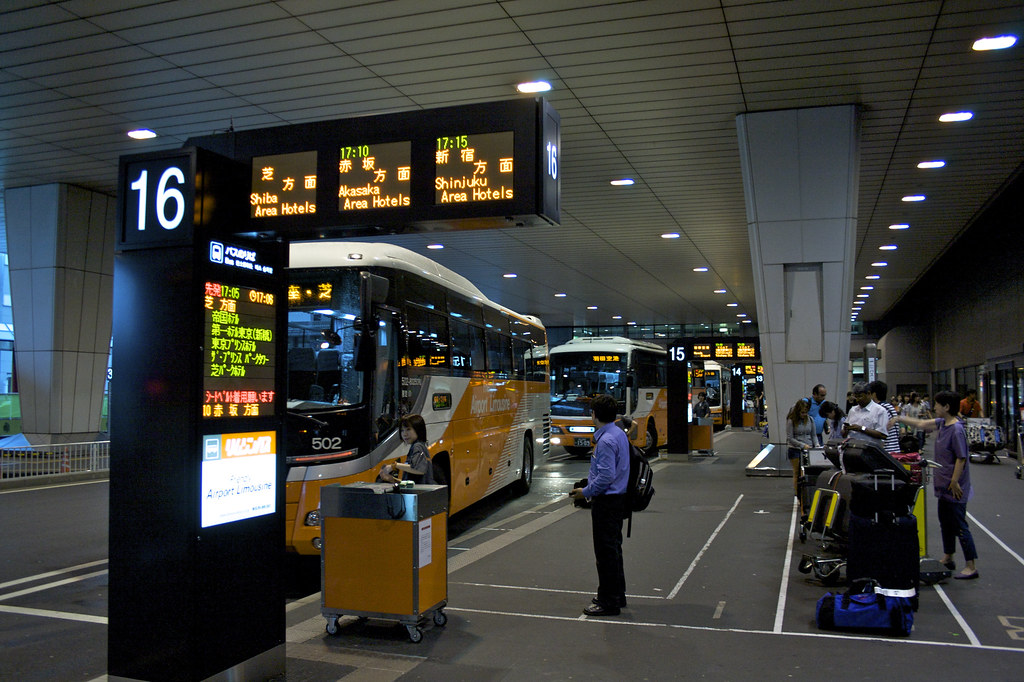 Bus terminal at Narita arrivals