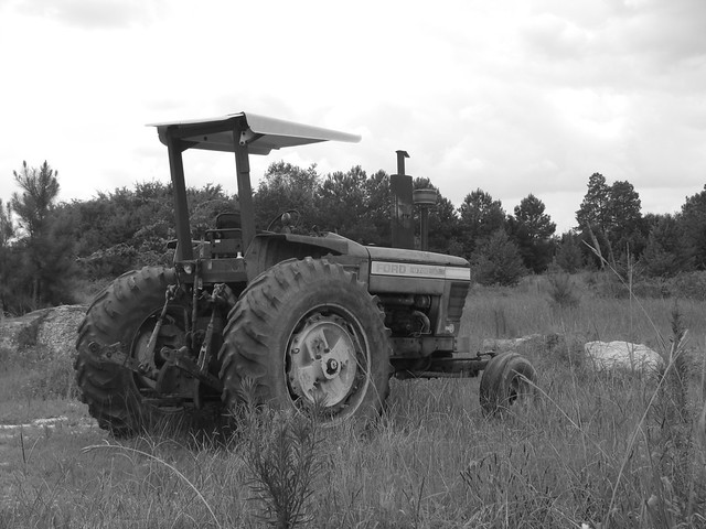 Ford Tractor - Black and White | Flickr - Photo Sharing!