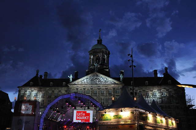 Royal Palace at the Dam Square Amsterdam by Flickr user thecomicproject