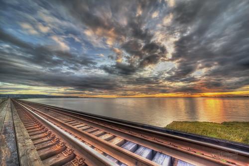 park trestle autumn sunset vancouver geotagged track rail railway surrey rails sigma1224mm hdr mudbay janusz leszczynski righttrack 001622 stayon digitalsquirrel geo:lat=49085883 geo:lon=122859327