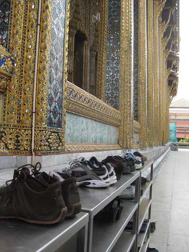 Shoe rack - Temple of Emerald Buddha, Bangkok