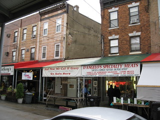 Image of Italian market near Philadelphia. philadelphia pennsylvania cheesesteak italianmarket patskingofsteaks 102409