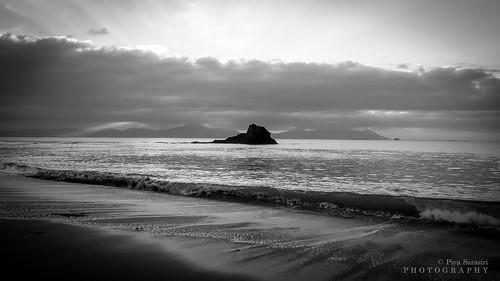 ireland irishlandscape irishseascape irishatlanticcoastline kerry bannabeach sandylane blackrock monochrome blackandwhitephotography blackandwhite minimalism