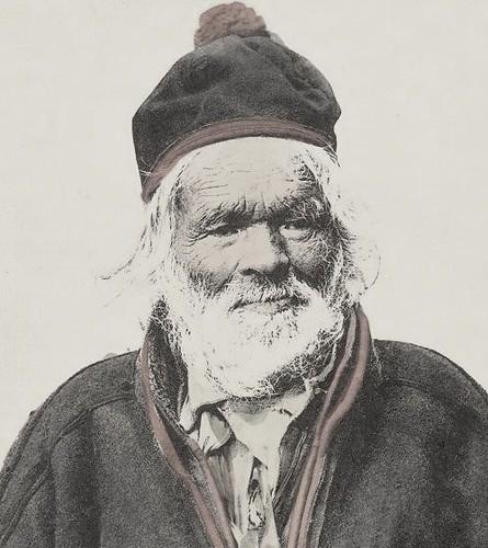 Old Nomad Sami man Finnmark in Norway ca 1890-1920