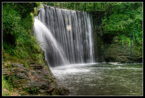 Cedar Cliff Waterfall - Pseudo HDR