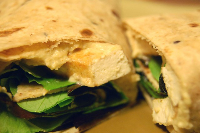 lemon tofu hummus wrap | Flickr - Photo Sharing!