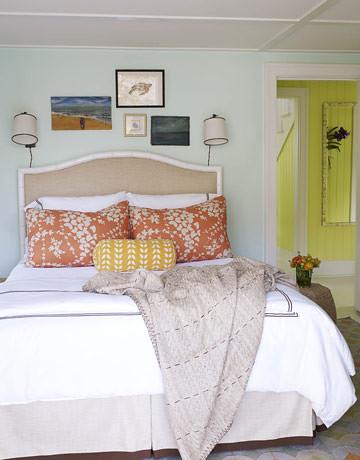 Summery Aqua Blue Bedroom Neutrals Bright Colors 39 Lid