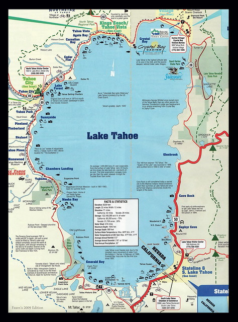Lake tahoe nevada map for South lake tahoe cabins near casinos