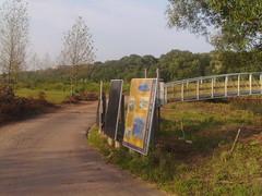Signage approaching the Raritan