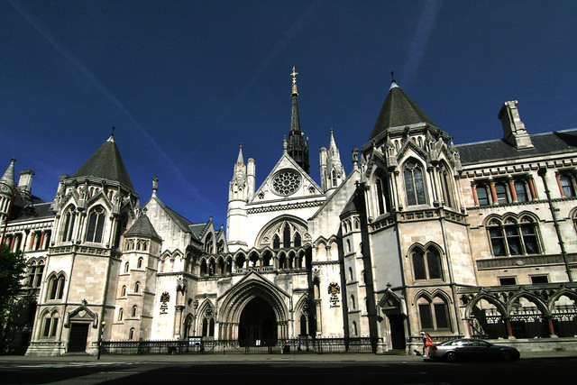 Law Courts, The Strand, London by Flickr user amid