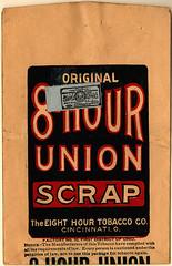 Eight Hour Union Scrap Tobacco ad