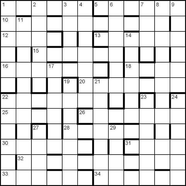 British Barred Cryptic Crossword Grid Blank Flickr