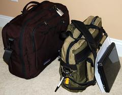 brown(0.0), backpack(0.0), bag(1.0), hand luggage(1.0),