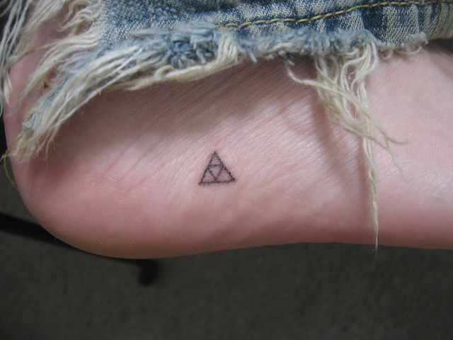 My triforce stick and poke tattoo flickr photo sharing for How to stick and poke tattoo