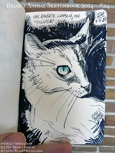 03-05-2014 #dailydrawing #animals silver #cat