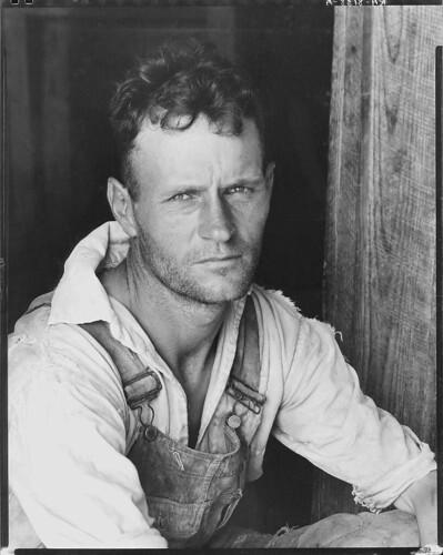 Floyd Burroughs, cotton sharecropper. Hale County, Alabama (LOC)