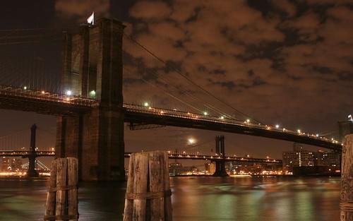 Brooklyn Bridge at Night - New York City, New York