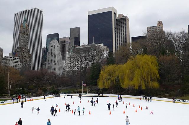 Wollman Rink patinar sobre hielo en nueva york