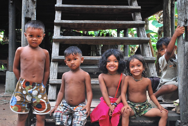 Cambodian children can be your first students