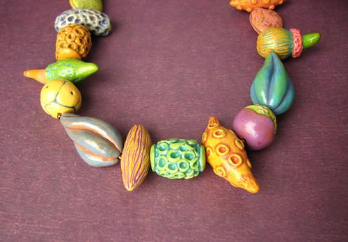 Polymer Pod necklace