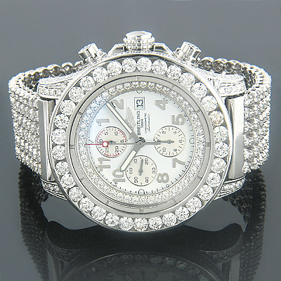 breitling diamond bezel 4ct fits breitling bentley watches aftermarket