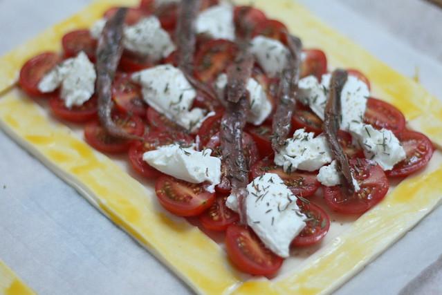 tarte aux tomates cerises avant la cuisson flickr. Black Bedroom Furniture Sets. Home Design Ideas