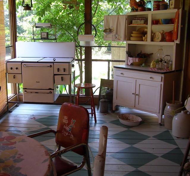 Love Lane Kitchen: Screened-In Front Porch Kitchen...