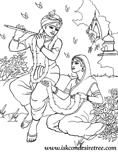 krishna coloring pages - 3664872036 d535ae81f2