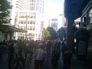 Seattle critical mass ride june 2009